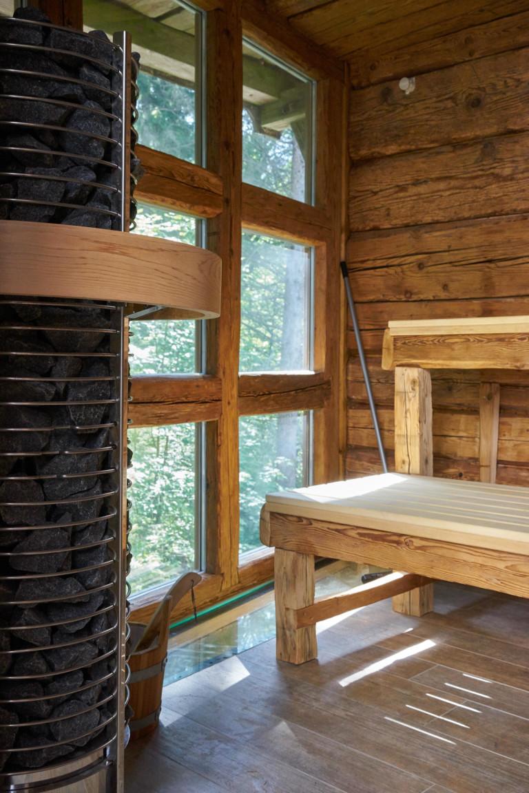 Detailansicht Saunaofen des Dorfbad Tannermühl