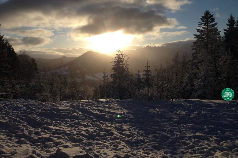 Winterhimmel am Almbad Huberspitz