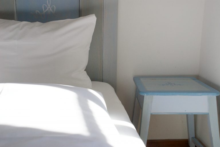 Detailansicht Doppelbett (Foto: almbad.de)