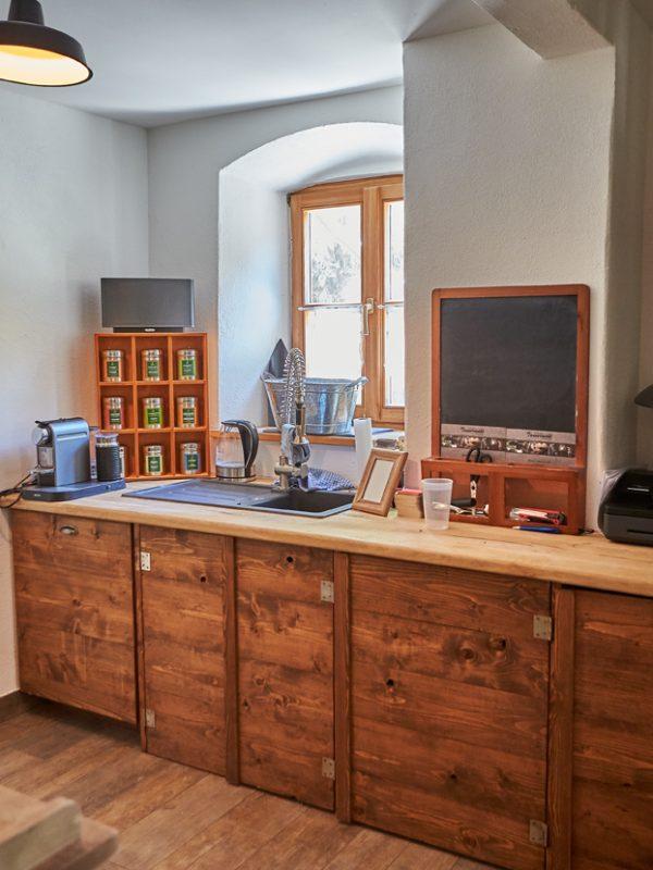Küche & Kaffeebar im Dorfbad Tannermühl