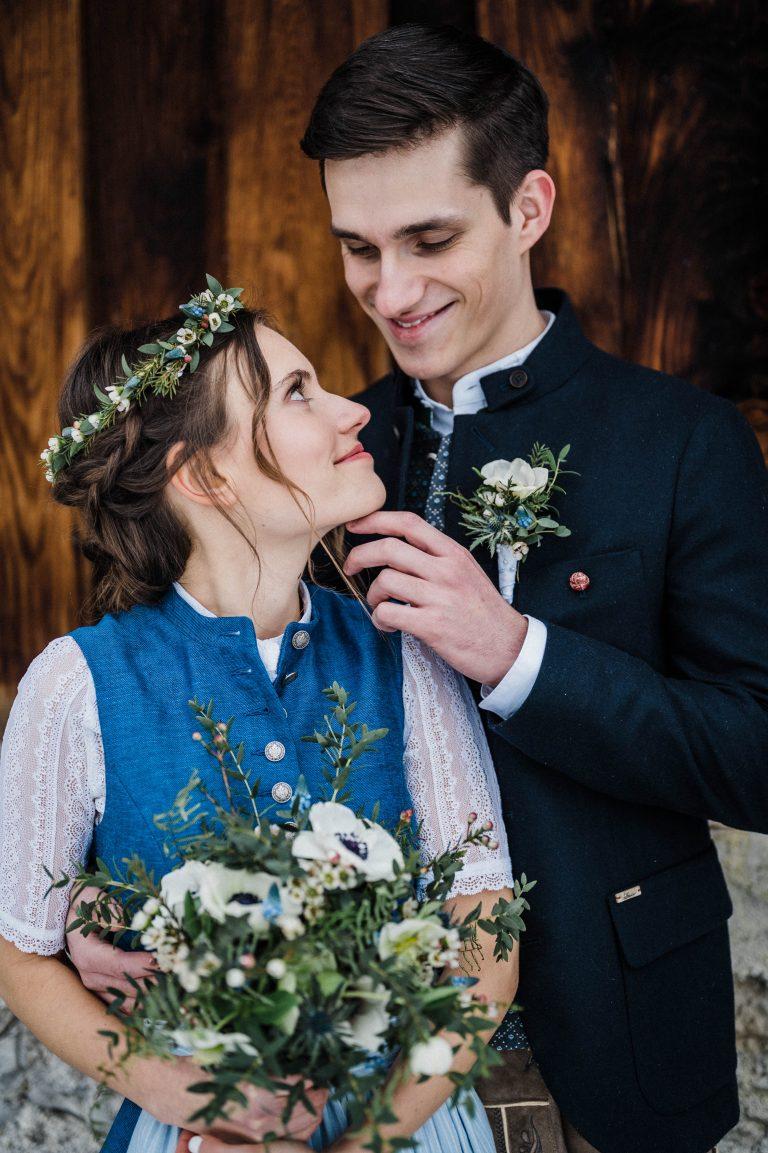 Das verliebte Brautpaar